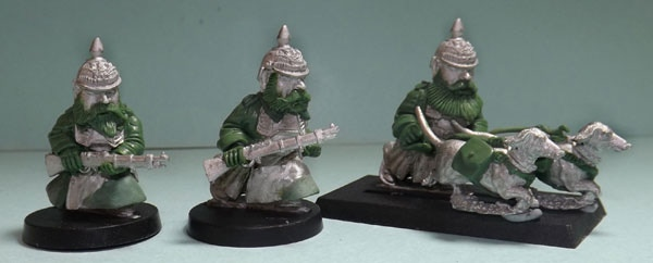 Part of SET THREE: Dwarven Prussian Scrunts and 2 Dachshund Dogs