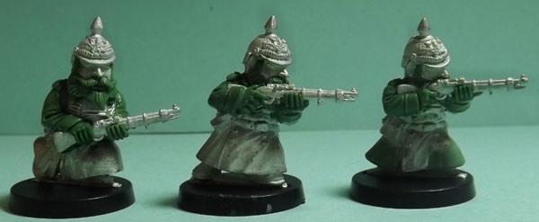 Part of SET THREE: Prussian Rifle men