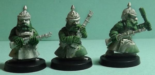 Part of Set Three: Riflemen and Grenade Thrower