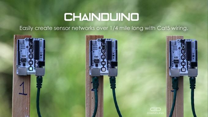 ChainDuino Boards outside before distance testing