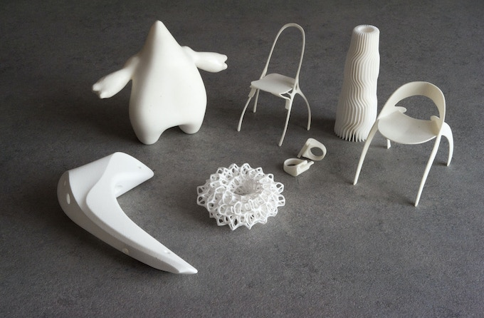 Ice1 and Ice9 3d printed sample objects