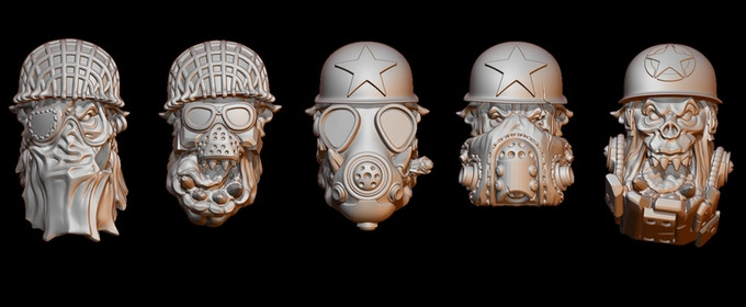 Orc SpecOps troopers heads