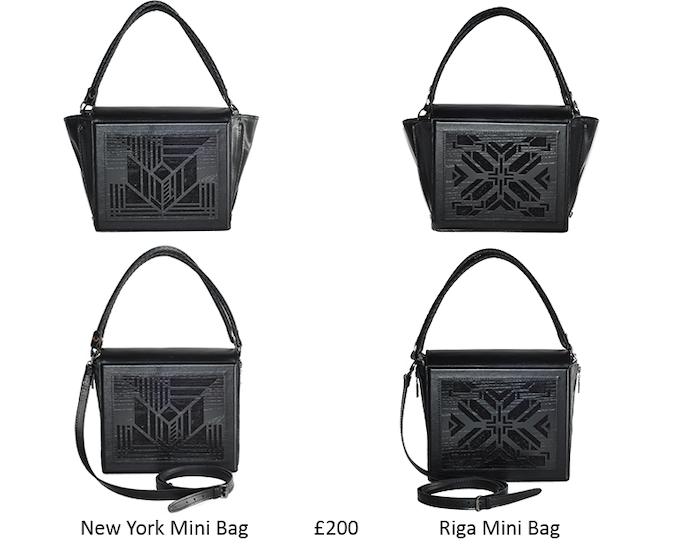 Handmade leather handbag with laser engraved wood | 2 ways of design | 2 ways of holding | 23cm x 26cm x 9cm | fits an iPad