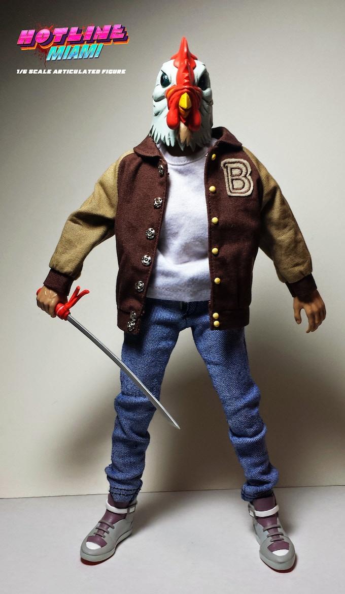 Hotline Miami Jacket Figure By Erick Scarecrow Kickstarter