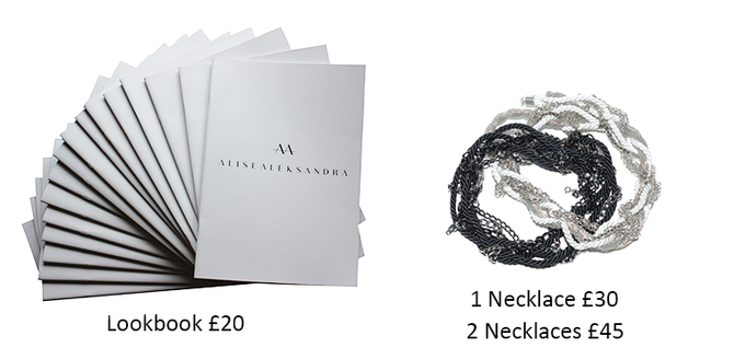 AA lookbook | necklace black or white | wearable separately or together