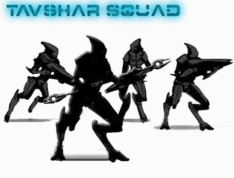 TAVSHAR SQUAD = 1 x sTavshar Leader and 3 x Tavshar Warrior