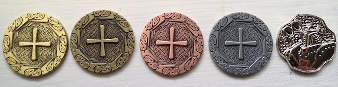 Antique Gold, Antique Bronze, Antique Copper, Antique Silver, Platinum Silver 500