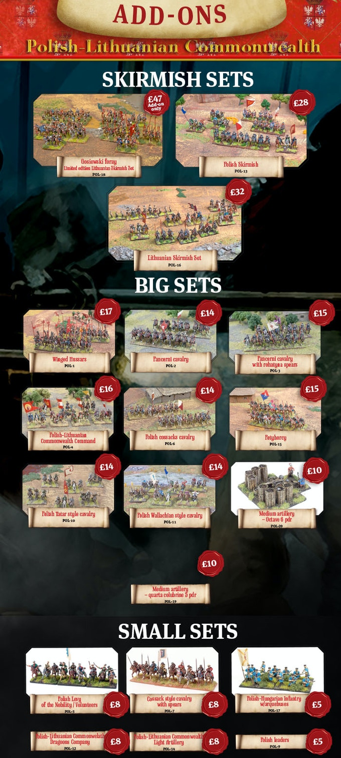 Check the details of the Polish-Lithuanian Commonwealth sets in online store