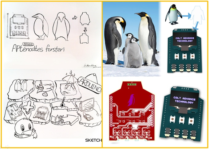 The Emperor Penguin inspired us, by its characteristics of living in tough environment