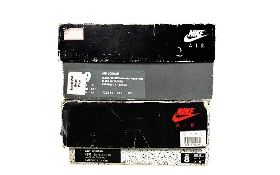 History of the Air Jordan sneaker box and changes over the years.