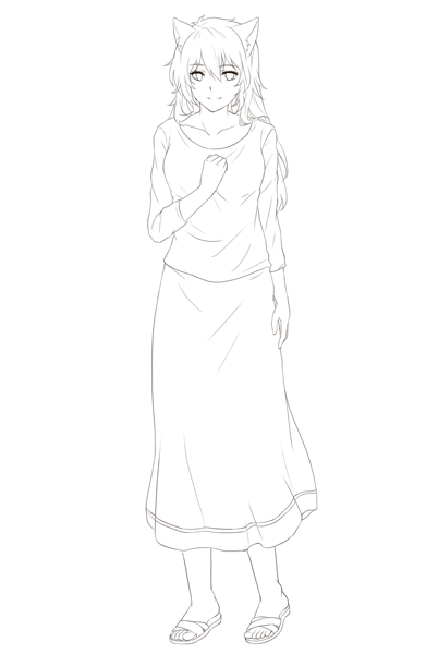 Faye, our old protagonist and ally to Natalie (sprite lineart)