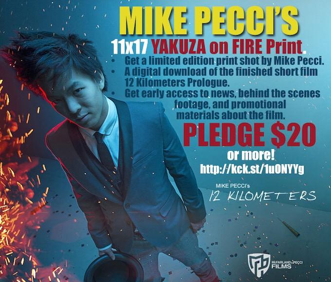 11x17 PECCI YAKUZA ON FIRE PRINT