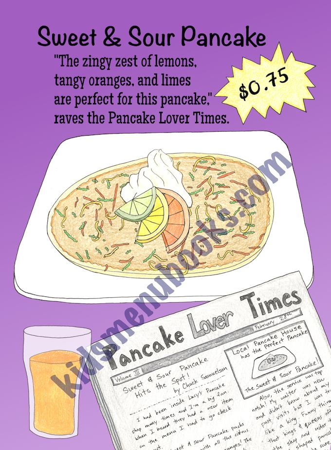 The Pancake Menu (interactive kids book) Hands-on math fun! by Lucy