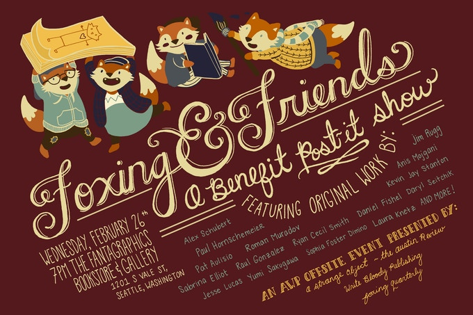 Foxing & Friends Event for AWP 2014 (Illustration by Leigh Luna)