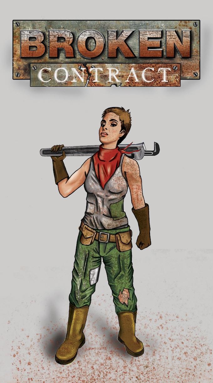 Talla Kellerman the Progen Mechanic by Sam Alcarez