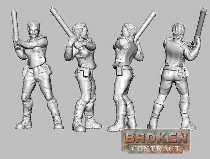 Officer Naria Anlika 3D sculpt by Tim Barry