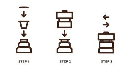In 3 easy steps: step-by-step