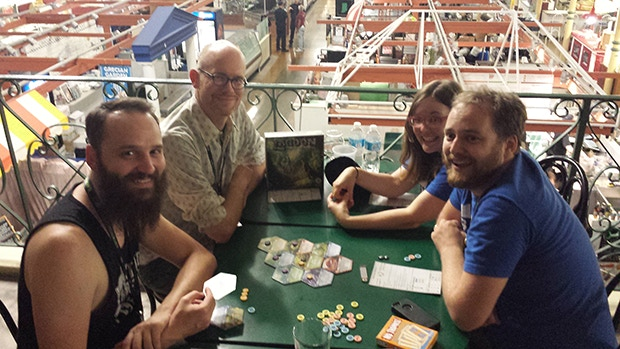 The Board With Life crew plays Lagoon (Chris won!).