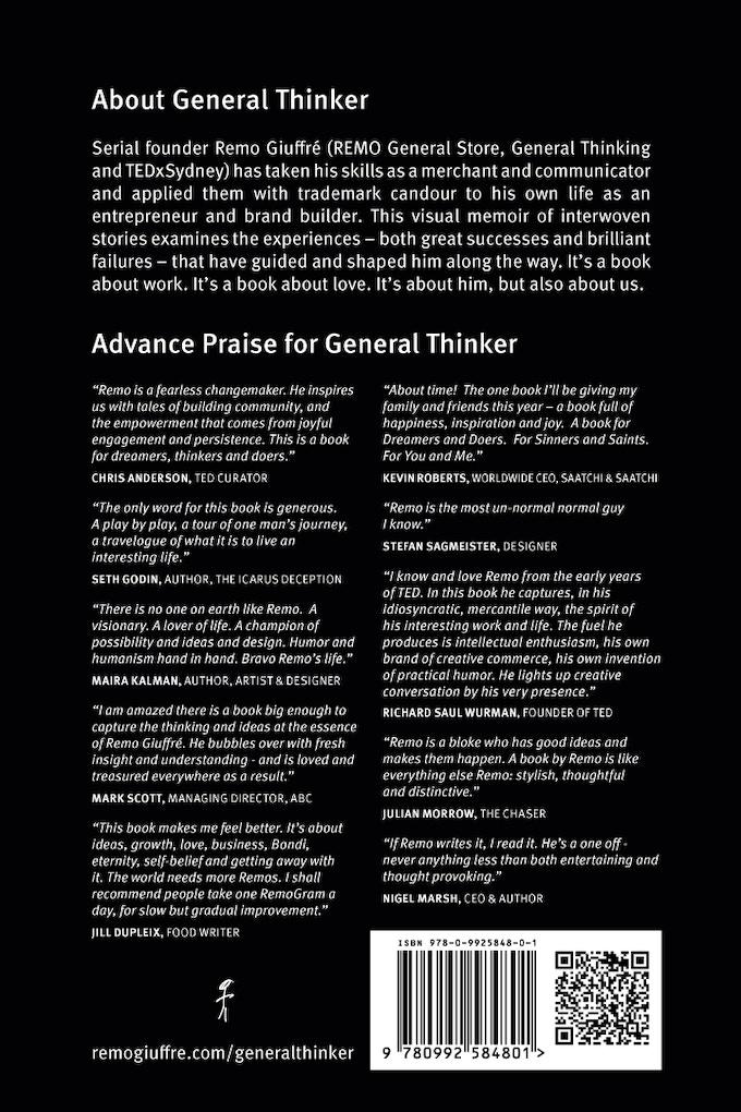 General Thinker | Back Cover