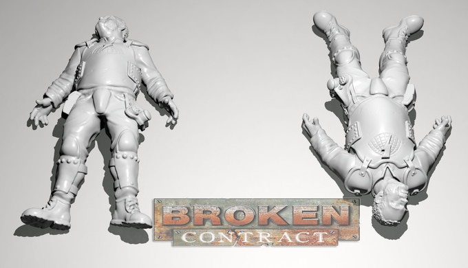 Officer Hickley Prone 3D sculpt by Tim Barry