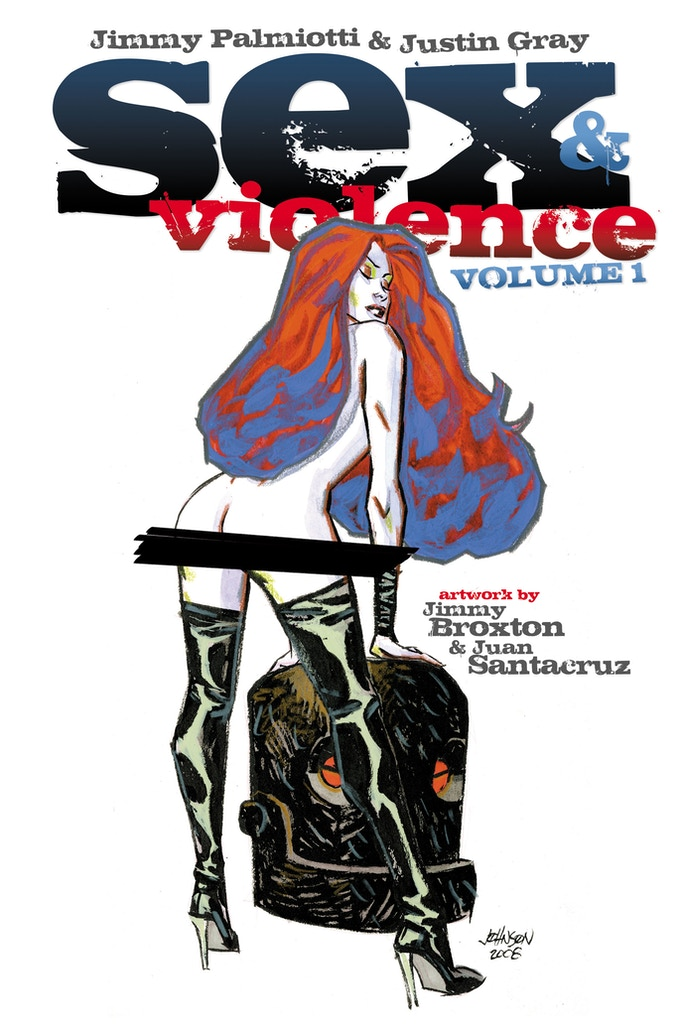 DAVE JOHNSON REPRINT COVER of SEX AND VIOLENCE VOL. 1