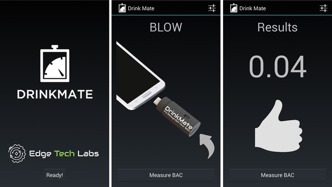 Drinkmate The Breathalyzer That Fits Your Lifestyle By Edge Tech