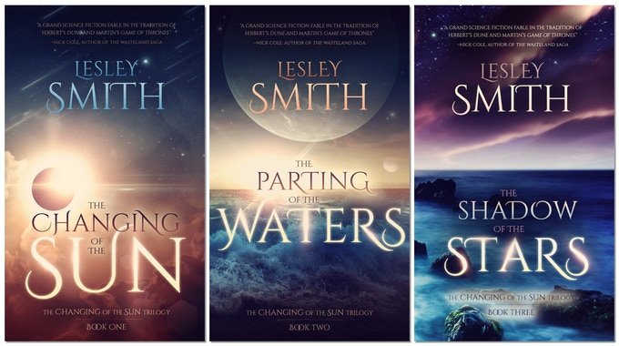 The covers for the entire trilogy as created by Jason Gurley