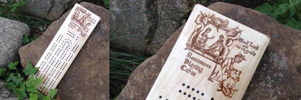 Laser engraved cribbage board!Click to enlarge!