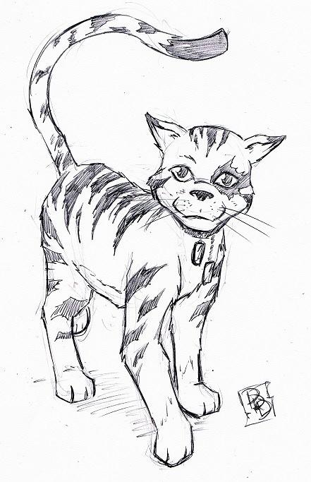 Sketch of Tabby - Reward - Original Artwork