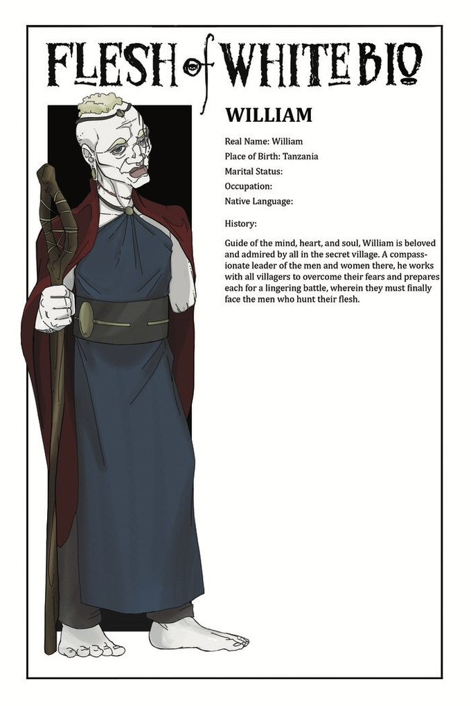 Sample Character Bio - One of FOUR PAGES Added for Stretch Goal #4