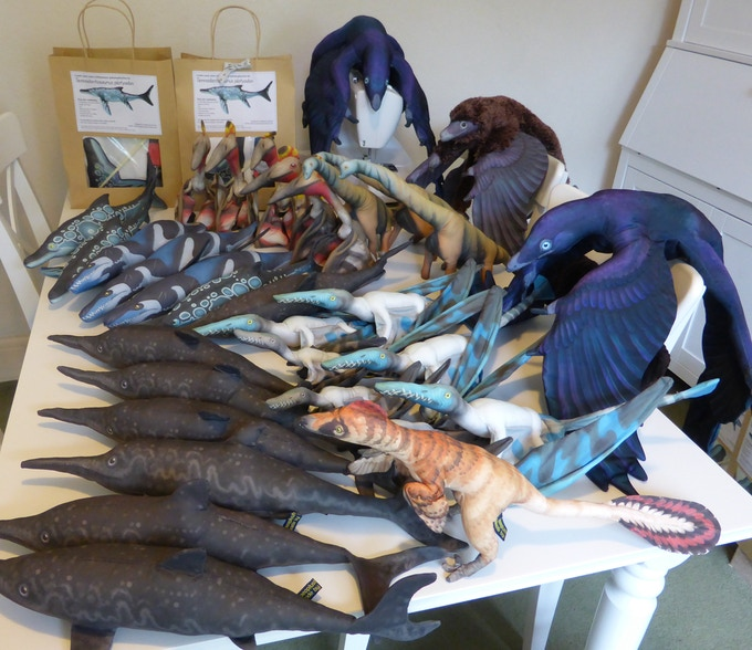 Palaeoplushies group shot! This lot came with me to TetZooCon, much fewer came back!