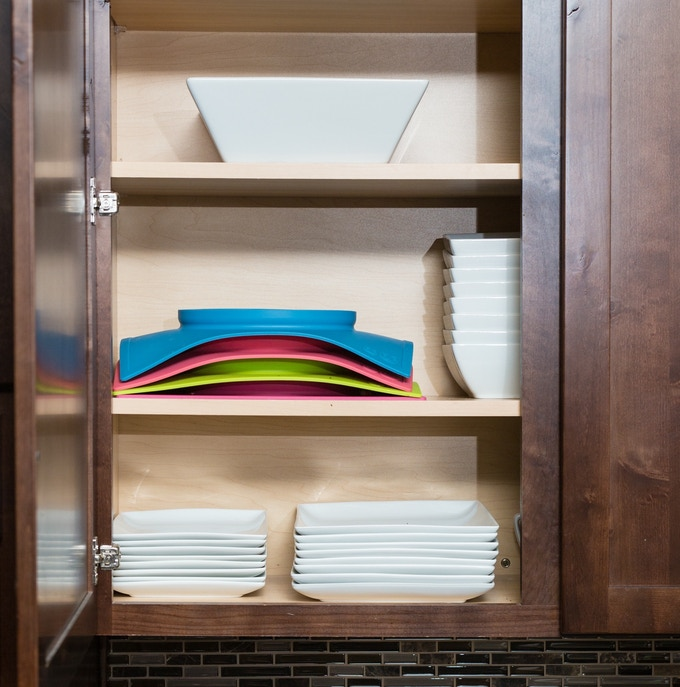 The Happy Mat allows for smarter storage - no more mismatched bowls, plates and mats!