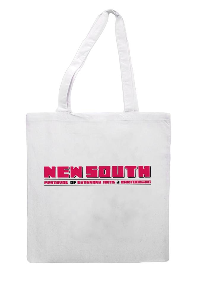 White Tote Bag Screen-Printed by Ramona Press ($20 Tier)