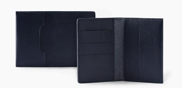 Swanfield Wallet in Navy