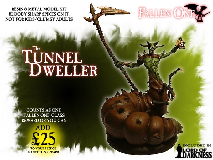 The poor, blighted Tunnel Dweller, as insane as it looks. Worshipped as a Living God by the Dark Brethren of the cult known as the Tunnel Guard... Included in the Lord Of Darkness pledge.