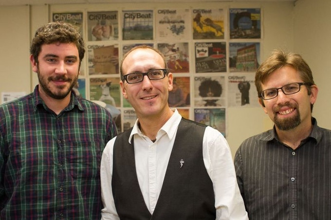 Our editorial team (L to R): Eric Ginsburg, Brian Clarey and Jordan Green
