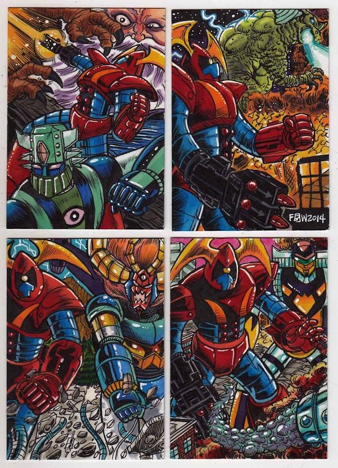 Finished set of 4 cards by Frankie B Washington!