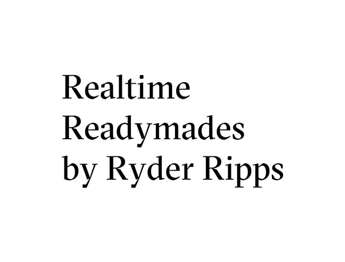 Ryder Ripps, Realtime Readymades, 2014. Conceptual Ebay purchase, edition on 10.