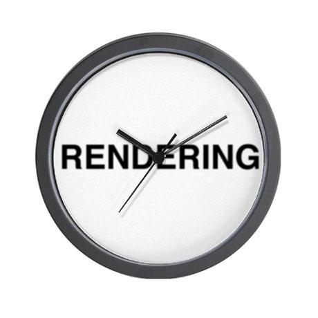 """Rick Silva, RENDERING, 2014. Custom 10"""" wall clock, edition of 10."""
