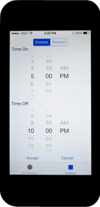 Scheduling Input Screen