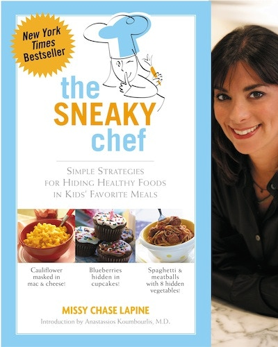 """You'll receive a signed copy of my first book in The Sneaky Chef series! I'll get your kids eating """"Veggies Tonight, Without a Fight!"""""""