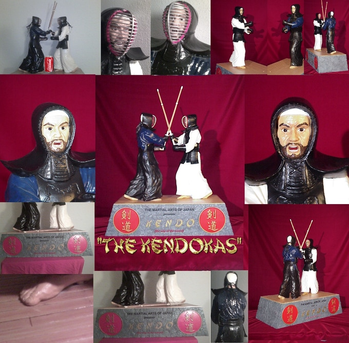 """The Kendokas"" statue makes a great centerpiece in your formal room or on your office desk, especially for those working at Japanese oriented businesses. Click the photo to purchase this work of art."