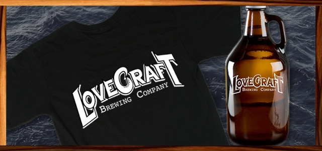 Logo T-shirt and Growler Example