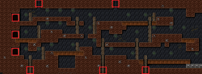 Level Showing Spawning Locations