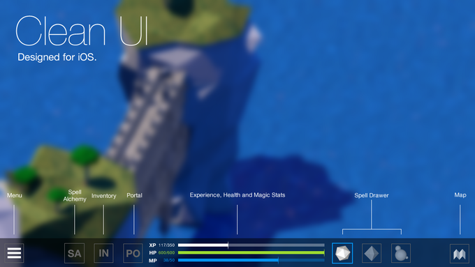 Mock Clean UI element descriptions