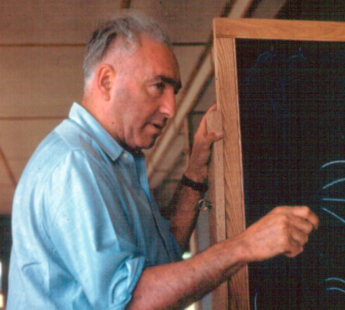 Wilhelm Reich in the Student Laboratory at Orgonon