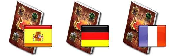 Spanish, French and German versions done by our backers Alberto GM, Grisboui and Arnd Felten. Thank you!