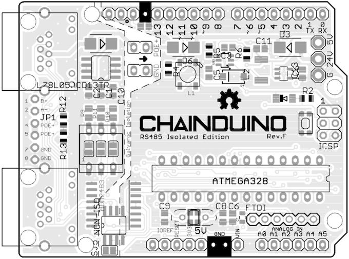 Chainduino328 Isolated Edition - Rev.F
