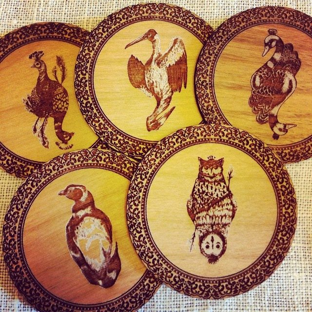 Wooden Coins Set of 5 Complete