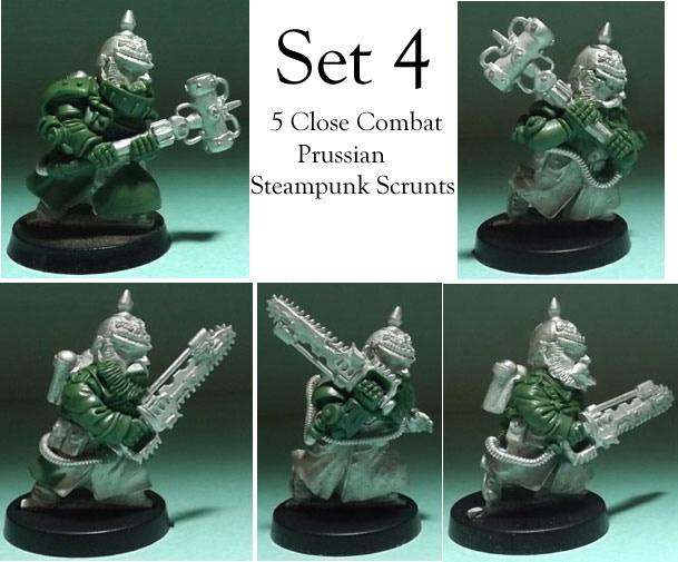SET 4: Five Prussian Close combat Steampunk Scrunts